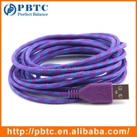 2 Meter Durable Double Sided Colorful Cell Phone Braided Cable For iPhone 5 , Data Charger Cable For iPhone 6