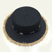 Hot selling holiday promotion wide brim bowknot sun visor hat