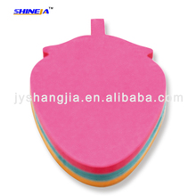 Promotional die cut fruit shaped sticky notes , die cut memo cube sticky notes