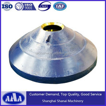 2016 china suppplier High manganese steel casting concave and mantle for coal mine equipment