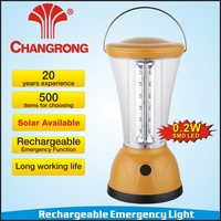 Rechargeable portable emergency camping battery solar lantern