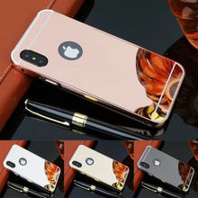 Slim Silicone TPU Mirror Clear Bumper Phone Case Cover for iphone 10 x mibile phone case with luxury