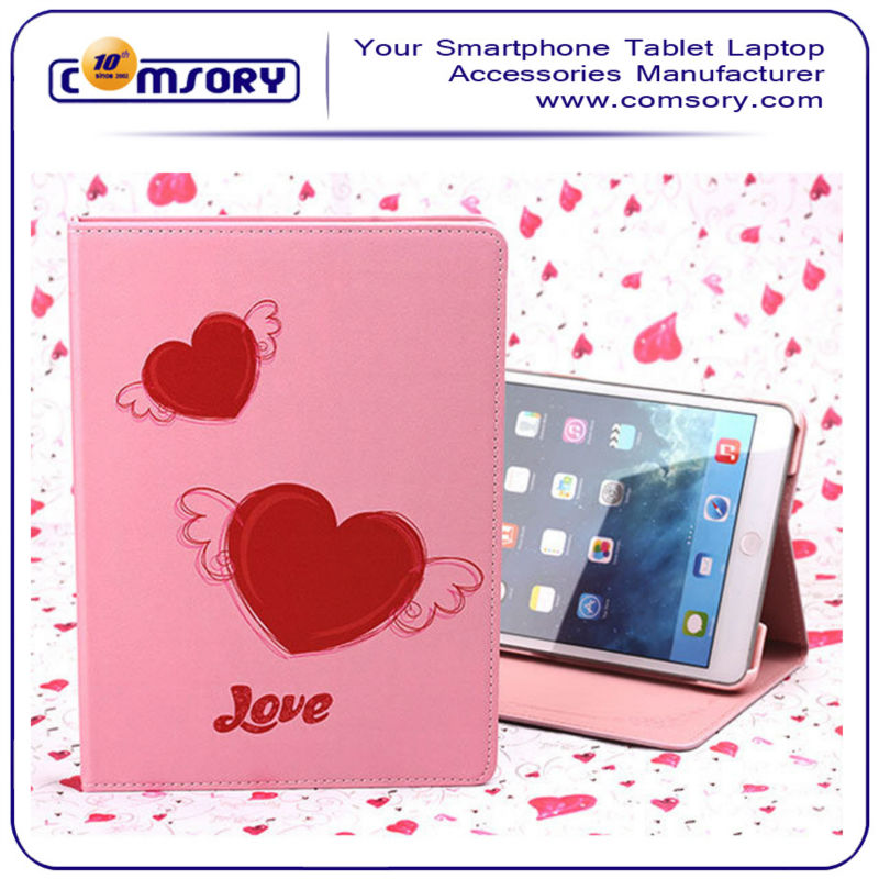 for iPad Air ipad 5 Beautiful lover pink loving heart Case cover