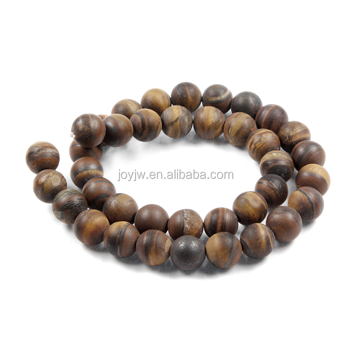 6/8/12mm Hot Sale <strong>Natural</strong> Tiger eyes Matte Beads Semi Precious Stone Beads For jewelry making