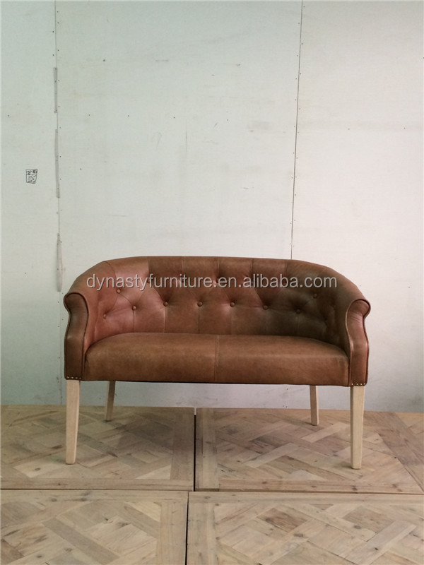 Vintage commerical elegent leather sofa furniture designs