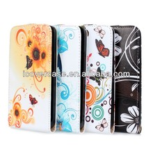Flower PU Leather Flip Cover Case for HTC ONE M7