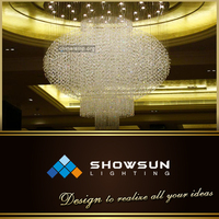Guzhen customized Chinese style crystal clear lantern chandelier