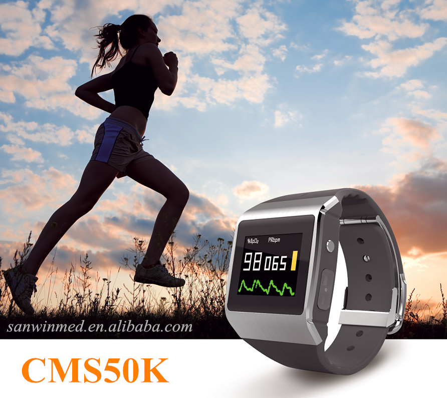 CE/FDA Approved Sport Smart Watch Wearable SpO2 and ECG Monitor with bluetooth