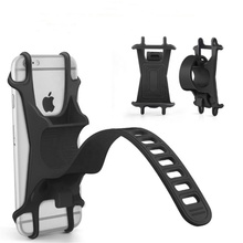 Bike <strong>Phone</strong> Mount Adjustable Universal Silicone <strong>Mobile</strong> <strong>Phone</strong> Bicycle Mount Holder for Smartphone with 4-6 Inch