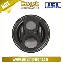 "car head light Round LED DRL Headlight Driving 7"" round led headlight Safety White Angel Eyes Halo Ring Head Light Lamp"