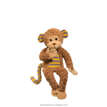 Promotional high quality Suntown plush stuffed animal toys,plush yellow stripe monkey toys,plush soft monkey toys