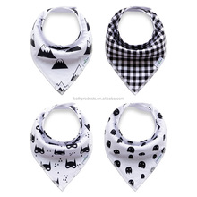 2016Printed Technics and OEM Service Supply Type organic cotton baby bibs baby bandana drool bibs