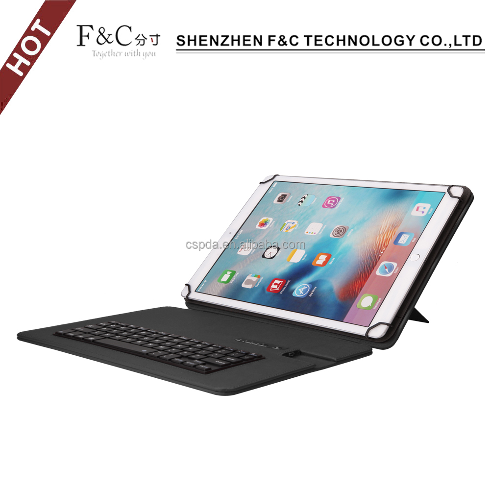 Hot selling easy-to-use pu leather dustproof stand arabic keyboard case for ipad pro 9.7 12.9 inch