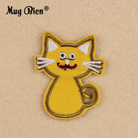 wholesale cartoon embroidery cat dog patch work neck designs for kids clothing