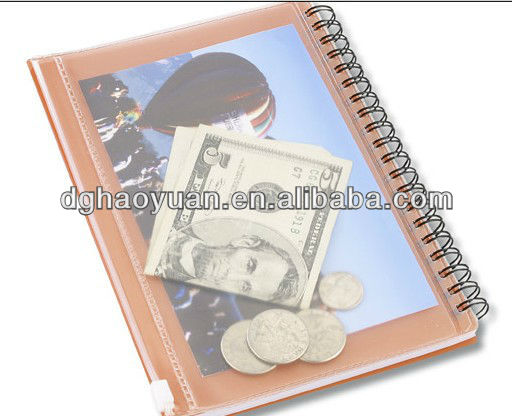 Mini transparent pocket buddy spiral notebook with pen