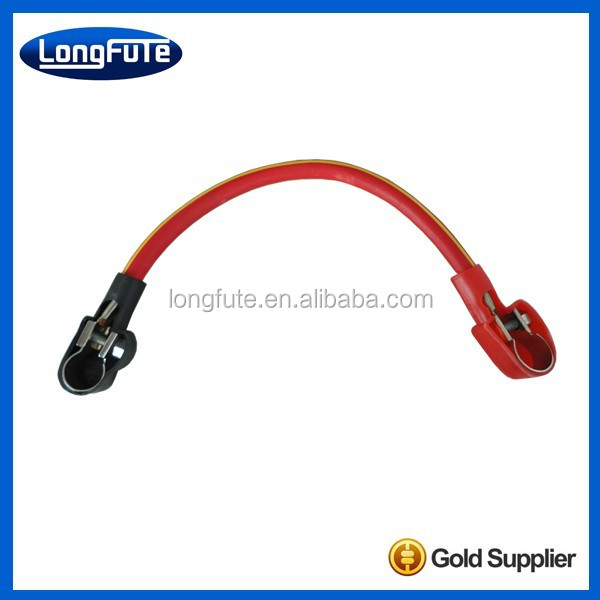 China LongFuTe Pre-Made Auto bond strap battery jumper cables din connector with Copper / lead / insulated sleeve