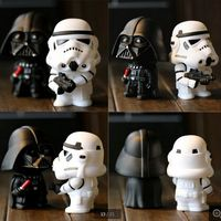 (New Arrival) 2pcs White & Black Movie Star War Action Figure, High Quality Star War PVC Figure, Star War Plastic Figures
