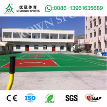 basketball court floor cover with epdm rubber granules & sbr granules mixed by pu glue/pu binder