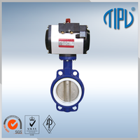 Medium pressure Worm Gear butterfly valve catalog for gas