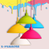 Silicone Chandelier Lamps Foldable Colorful Pendant