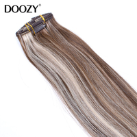 wholesale 100% brazilian hair clip-on hair extension