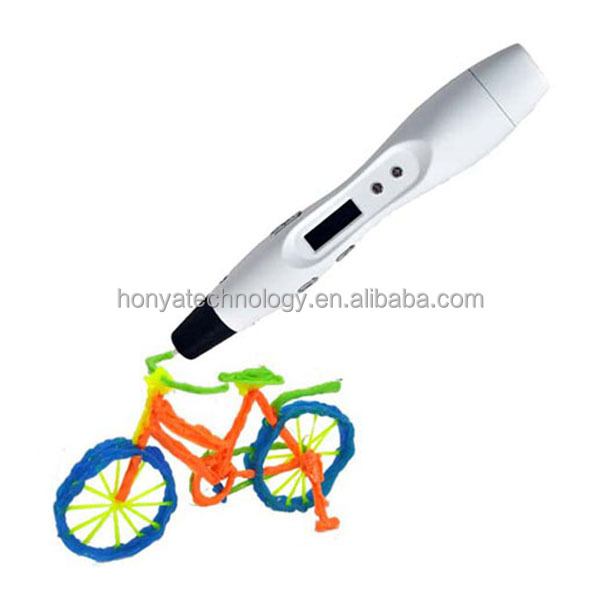 Guangzhou hot extruded gadget 3d pen with logo and OLED screen