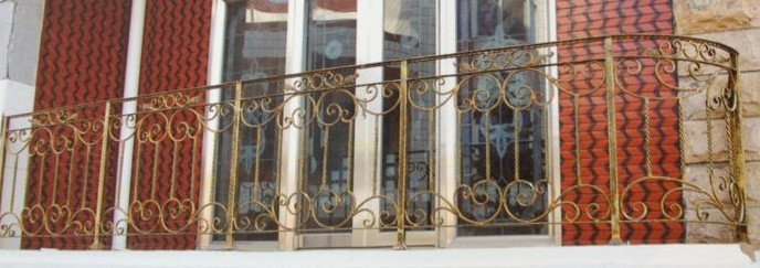 2016 new design wrought iron handrail design modern iron banisters cast iron baluster for balcony
