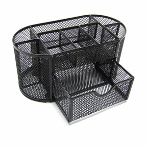 Office supply colorful metal wire mesh desk organizer