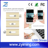 Zyiming OEM Gifts For iPhone SE 5S 6S iPad iPod OTG USB Flash Drives Pendrive 32GB 64GB Smartphone Tablet PC Cle USB Flash Stick
