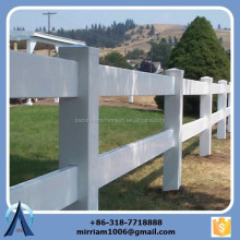 High quality 2 rails, 3 rails and 4 rails white vinyl horse fence, horse fence