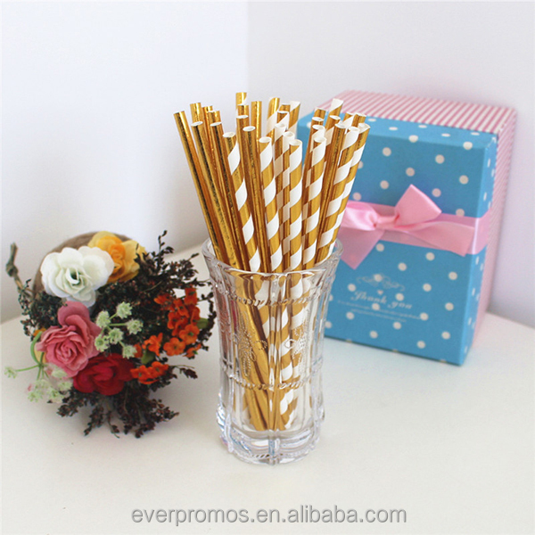 Art Drinking Paper Straw For Wedding Event Baby Shower Party Item Supplies