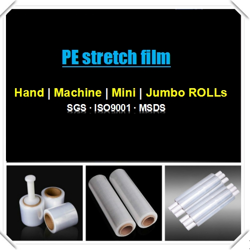 Hand shrink wrap and pallet packaging Clear/ Green LLDPE stretch film