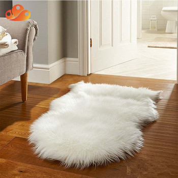 Soft Faux Fur Sheepskin Perfect Chair Cover Area Rug Rug For Living