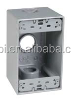 Manufacturer High Quality UL Standard Three Holes Customized Electrical Outlet Box Covers