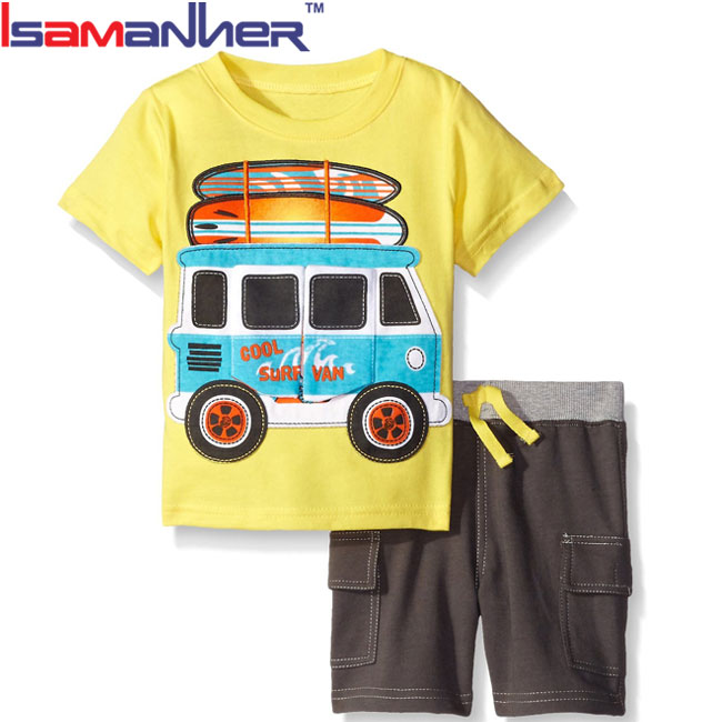 Quanzhou factory custom clothes kids boys trendy clothing wholesale