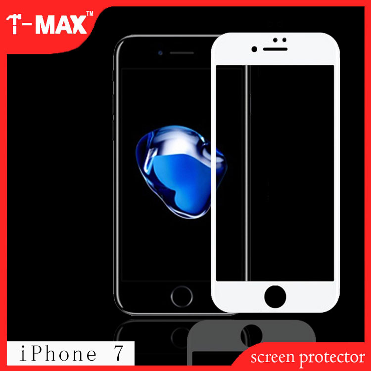 2017 trending products 9H 3d Color High Clear anti-fingerprint For Iphone 7 Tempered Glass Screen Protector