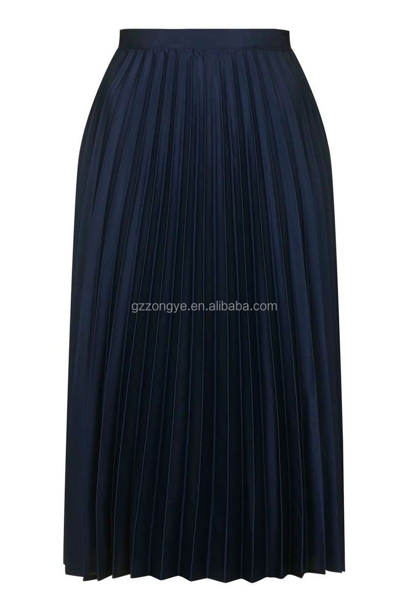 Factory directed Pleated ladies summer pictures of long skirts and tops