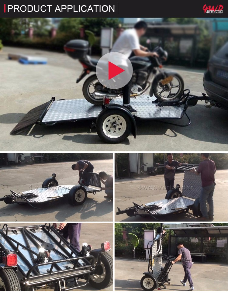 Never Used Cargo Tow Pull Behind Small Trailer for Motorcycle
