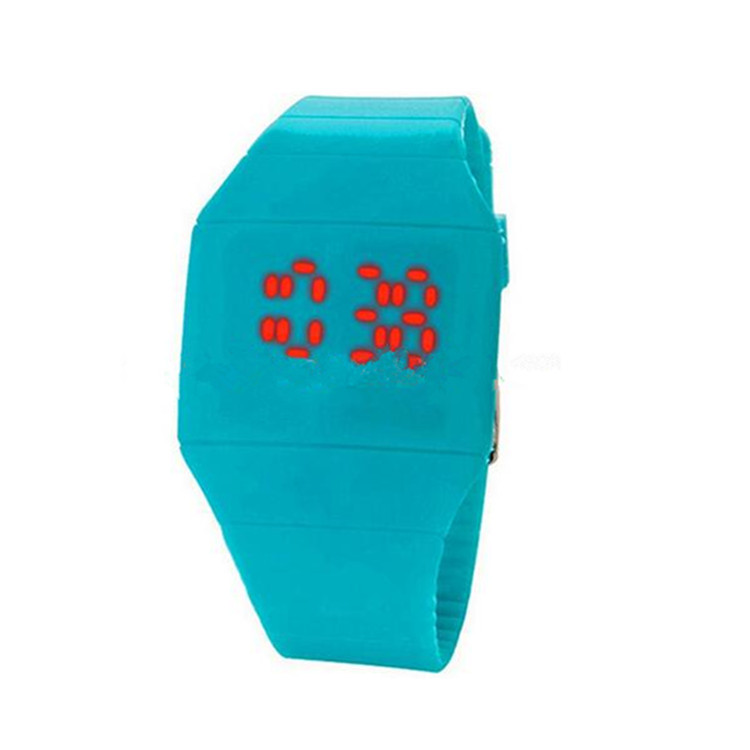 New Flash Time Motion Activated Kids LED Silicone Watch