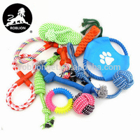 RoblionPet Pet cotton rope toy dog hand woven cotton rope carrot dog grinding teeth cleaning pet toy