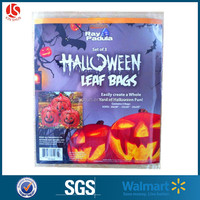 Halloween Pumpkin leaf bag Jumbo plastic drawstring gift bags wholesale