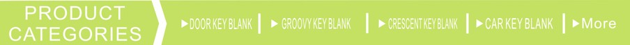 Competitive Price SC1 SC4 Green color aluminum titanium key blank door key blank for lock with custom color
