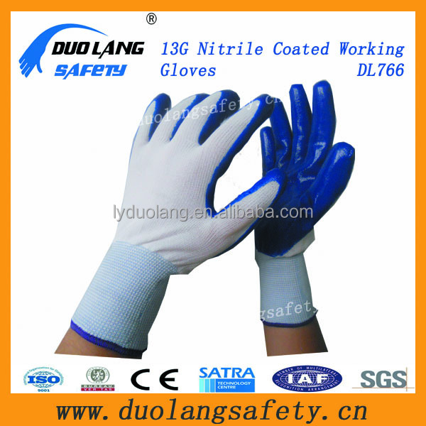 oil proof nitrile coated labor gloves for construction work