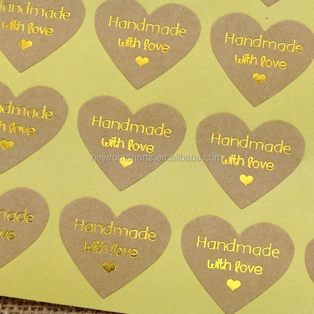Food Packaging sticker printing,Kraft Paper Bag Handmade Stickers Seal Labels Cookie Gift Bags