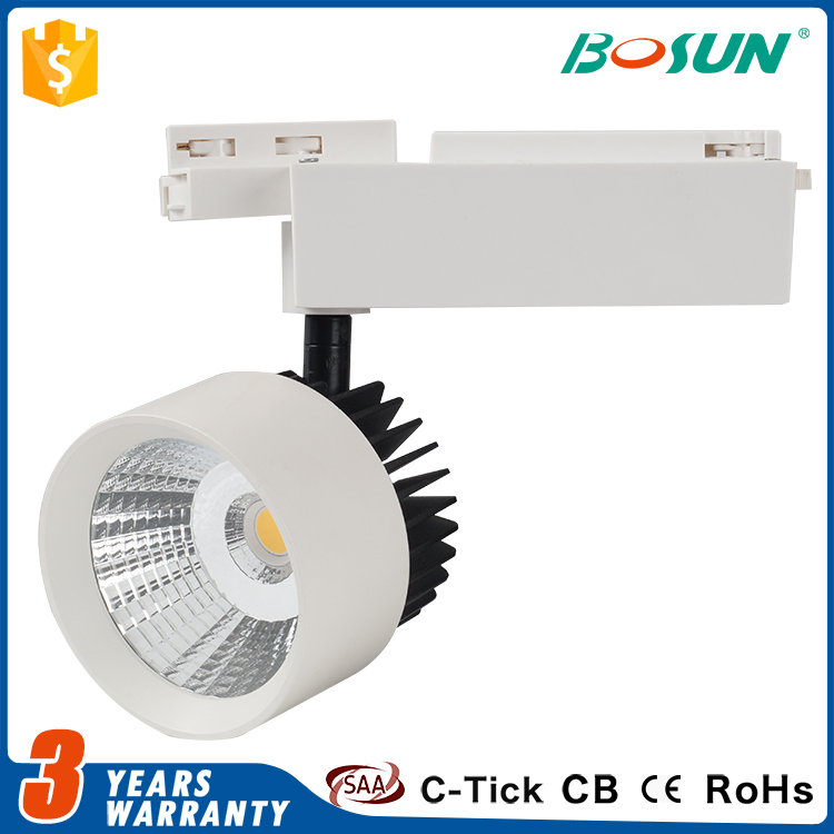 factory price SAA CE approved 30w cob led track light dimmable led track spot light