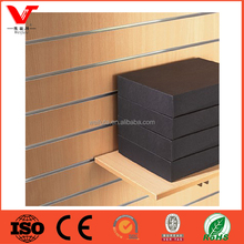 MDF Slatwall Panels Hot selling Slot Board With wood shelf