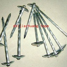rubber washer roofing nails with umbrella head twisted shank