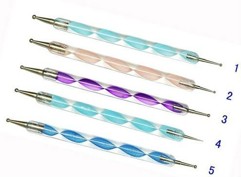 new arrived Way Marbleizing manicure tools of ways nail tools of nail brush dotting pen/5pcs/set