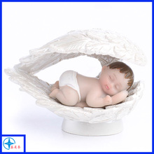 Mini cute resin sleeping angel baby figurines
