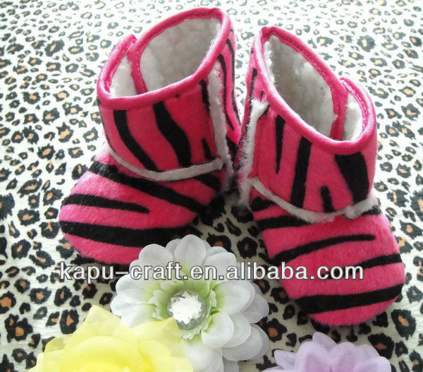 Lovely red zebra baby boots